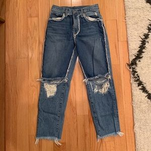 CARMAR HGH WAISTED TWO TONED JEANS - 26